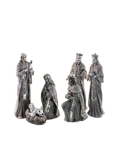 Decoración Navideña Belen Con 6 Figuras