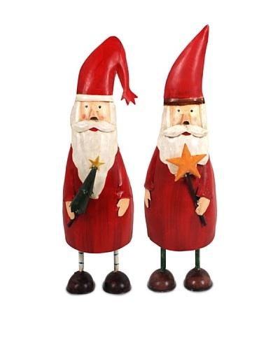 Decoración Navideña 2 Figuras Santa
