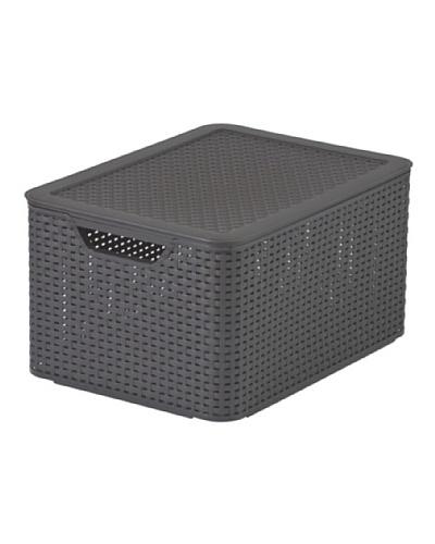Curver Caja con tapa Style 30 L chocolate