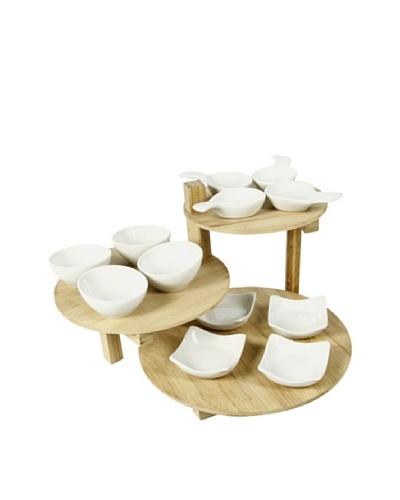 Delys Set de 12 Mini Cuencos Y 3 Bandejas en Bambú