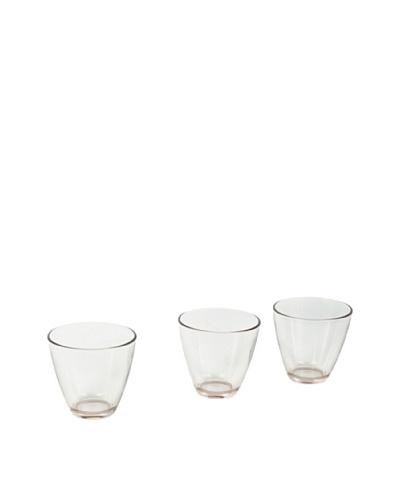 Delys by verceral Set De 6 Vasos Bajos De Vidrio Transparente