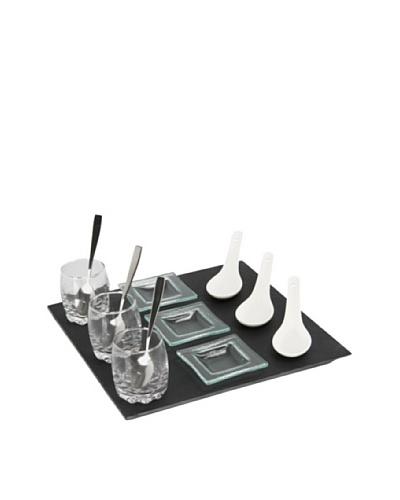 Delys-By-Verceral Set De Mini Aperitivos 13 Piezas + Bandeja De Pizarra