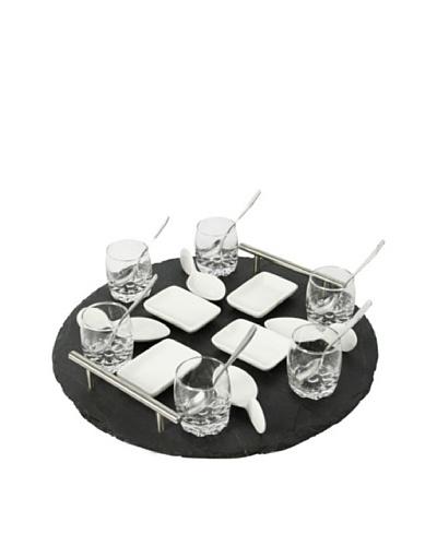Delys-By-Verceral Set De Mini Aperitivos 21 Piezas + Bandeja De Pizarra