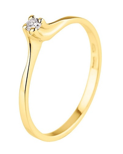 Design Diamond Anillo Clermont-Ferrand Oro Amarillo