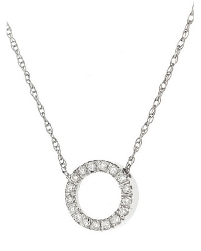 Design Diamond Collar Or Blanc 0.08 Cts