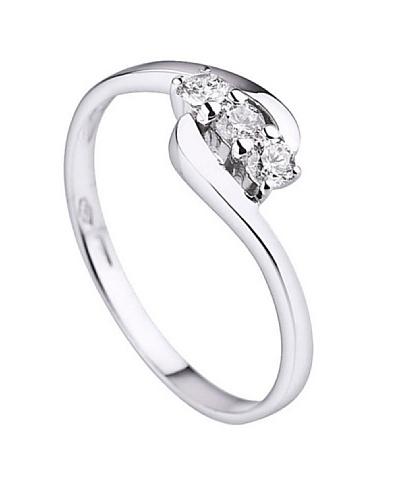 Design Diamond Anillo Pontoise Oro Blanco