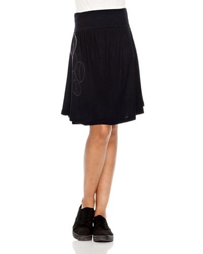 Desigual Falda Giorgy Negro Estampado
