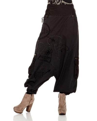 Desigual Pantalón New Boho Negro