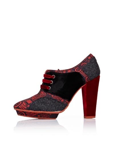 Desigual Zapatos de Tacón Rojo