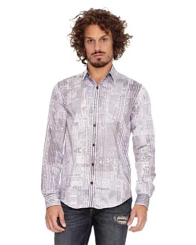 Desigual Camisa Carpe Púrpura ahumado