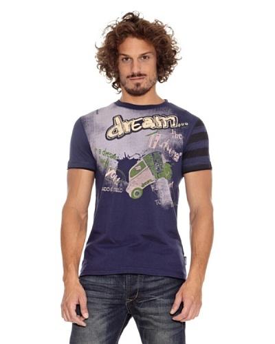 Desigual Camiseta Nestor Azul Cobalto