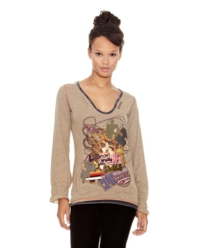 Desigual Camiseta Catman Duna