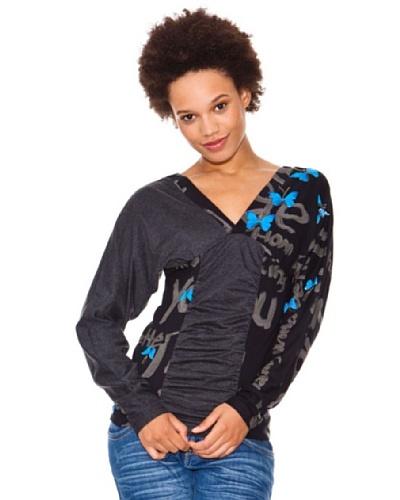 Desigual Camiseta Mariposas Azules