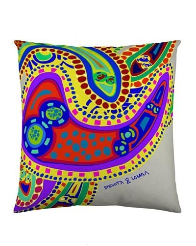 Devota & Lomba Funda Cojín Amebas Multicolor