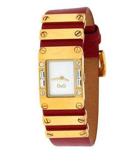 D&G DW0347 - Reloj de Señora movimiento de cuarzo con correa piel