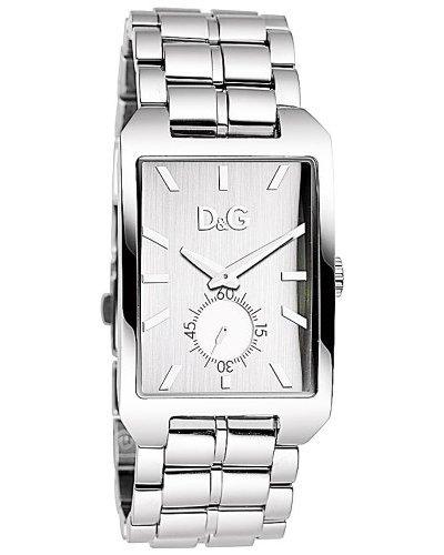 D&G DW0659 – Reloj Unisex movimiento de cuarzo con brazalete metálico plata