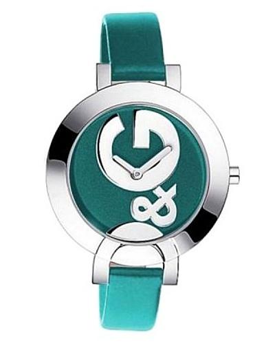 D&G DW0665 – Reloj de Señora movimiento de cuarzo con correa de caucho turquesa