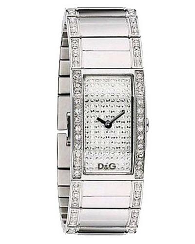 D&G Dolce&Gabbana DW0276 - Reloj analógico de mujer de cuarzo con correa de acero inoxidable platead...