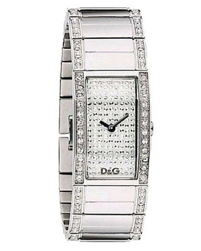 D&G Dolce&Gabbana DW0276 – Reloj analógico de mujer de cuarzo con correa de acero inoxidable plateada – sumergible a 30 metros