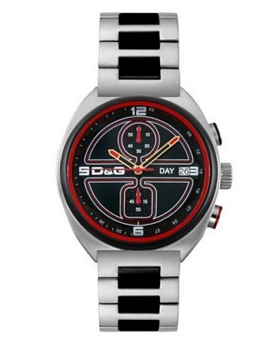 D&G Dolce&Gabbana DW0303 - Reloj cronógrafo de caballero de cuarzo con correa de acero inoxidable pl...