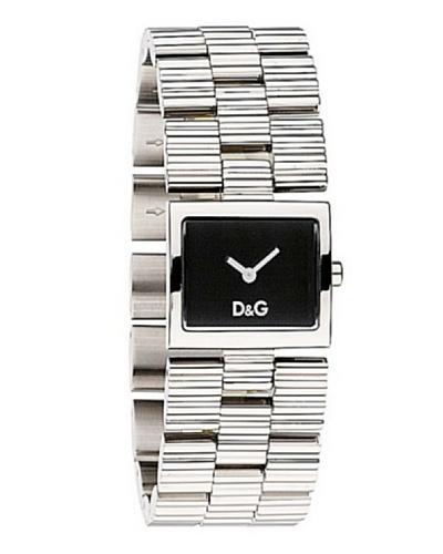 D&G Dolce&Gabbana DW0339 - Reloj analógico de mujer de cuarzo con correa de acero inoxidable platead...