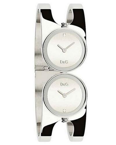 D&G Dolce&Gabbana DW0356 - Reloj analógico de mujer de cuarzo con correa de acero inoxidable platead...