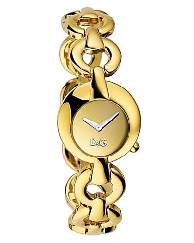 D&G DW0455 – Reloj de Señora movimiento de cuarzo con brazalete metálico Dorado
