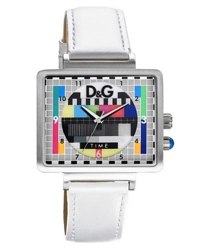 D&G DW0513 – Reloj Unisex movimiento de cuarzo con correa de piel Multicolor