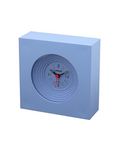 LORUS 10821 – Reloj Despertador Analógico Celeste