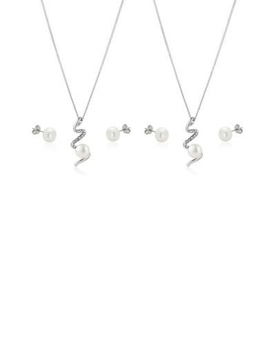 Diamond Style 2 Sets pendientes, cadena y colgante devotion