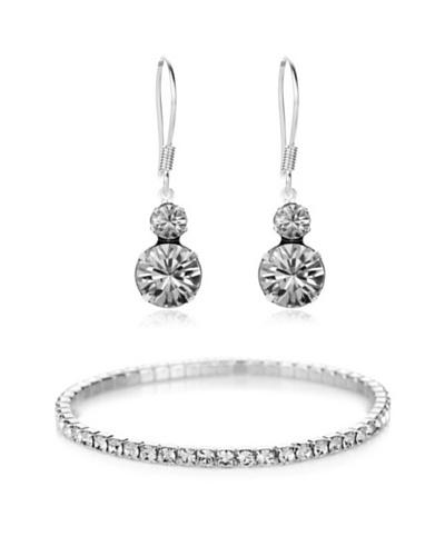 Diamond Style Juego brazalete y pendientes dúo
