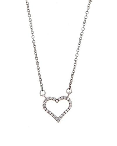Diamonds by MK Colgante Corazón Oro Blanco 9 ct y Diamantes