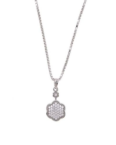 Diamonds by MK Colgante Oro Blanco De 9 Quilates Y Diamantes Con Cadena Plata