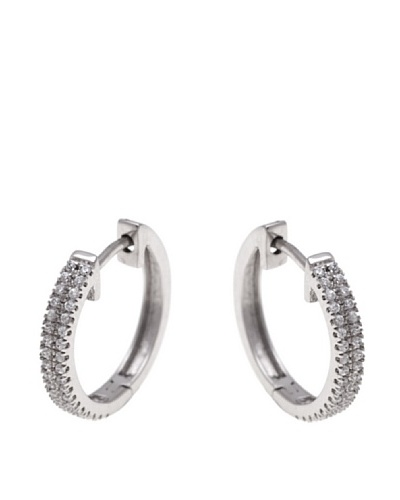 Diamonds by MK Pendientes De Aro Oro Blanco 9 ct y Diamantes