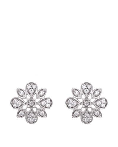 Diamonds by MK Pendientes Oro Blanco 9 Quilates Con Diamantes