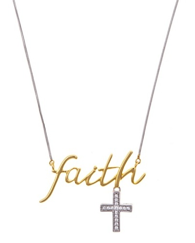 Diamonds by MK Colgante «faith» Oro Combinado 9 ct y Diamantes