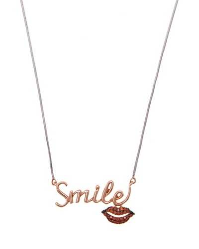 Diamonds by MK Colgante Smile Oro Rosa 9 ct y Diamantes