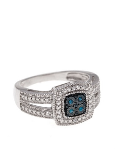 Diamonds by MK Anillo Oro Blanco 9 ct y Diamantes Azules