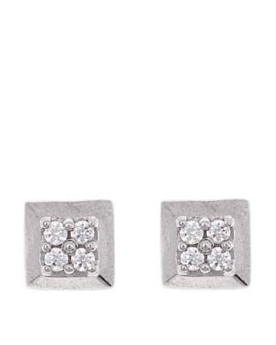 Diamonds by MK Pendientes Oro Blanco 9 Quilates Con Diamantes
