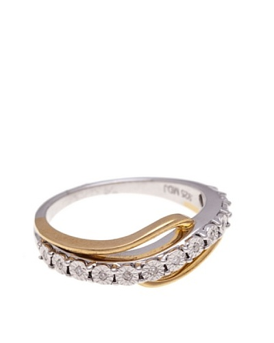 Diamonds by MK Anillo Oro Combinado Amarillo 9 ct y Diamantes