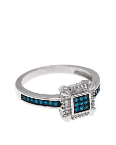 Diamonds by MK Anillo Oro Blanco 9 ct y Diamantes Blancos y Azules