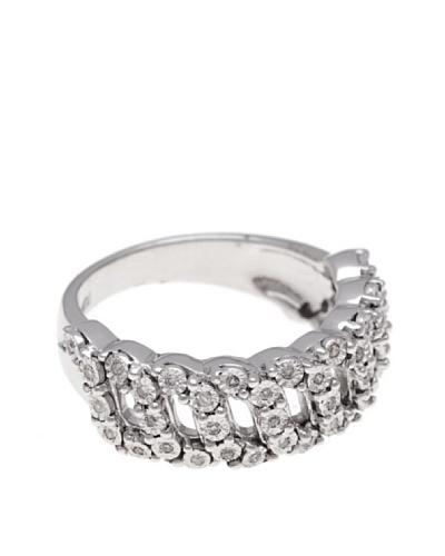 Diamonds by MK Anillo Oro Blanco 9 Quilates Con Diamantes