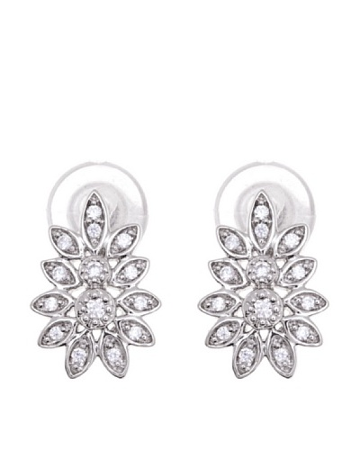 Diamonds by MK Pendientes Rama Oro Blanco 9 ct y Diamantes