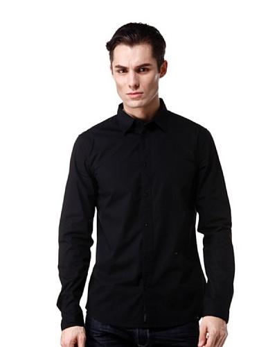 Diesel Camisa Supp Negro