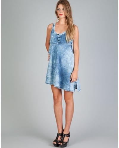 Diesel Vestido Dhakki Azul