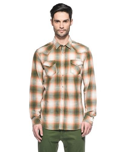 Diesel Camisa Sulphurr Verde / Naranja