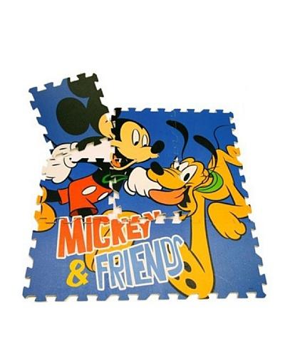 Juego alfombra puzzle en eva 9 piezas mickey mouse 90 x 90 - Alfombras mickey mouse ...