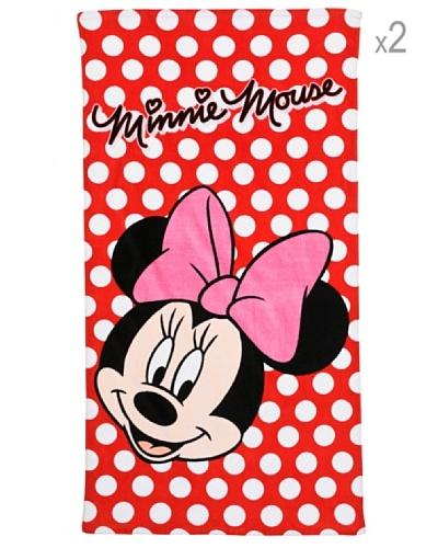 Disney Minnie Pois Set 2 Piezas Toallas de playa