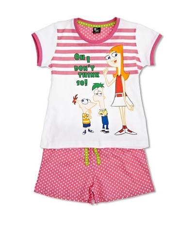 Disney Phineas & Ferb Pijama Candace Bubblegum
