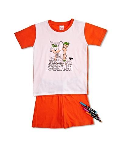 Disney Phineas & Ferb Pijama Colorea